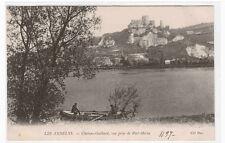 Chateau Gaillard vue prise de Port Morin Les Andelys France postcard