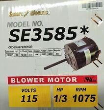 1/3 HP Furnace Blower Motor SE3585 -115V-1075 RPM-Reversible-5.6 AMP NEW