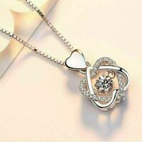 1.0Ct Round Cut Diamond Heart Shape Pendant Necklace 14k White Gold Finish