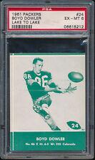 1961 Lake to Lake Packers #24 Boyd Dowler PSA 6 (FB01)
