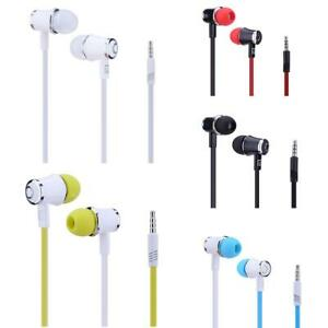 3.5mm Plug Flat Cable Wired Moving Coil Stereo In-ear Earphone
