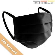 Gesichtsmaske, Behelfsmaske, Mundschutz, schwarz, Baumwolle, waschbar