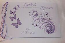 Gästebuch Konfirmation, Kommunion , hell lila