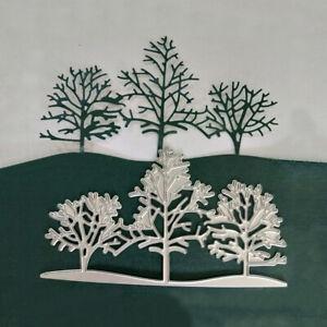 Christmas Snow Tree Metal Cutting Dies Stencil Scrapbooking Embossing Card DIY
