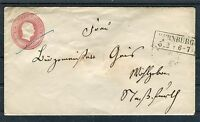 Ganzsachenumschlag Preußen Ein Silbergroschen rückseitig Siegel - b3859