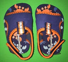 NEW! Garanimals CRABS Boys Size 4 Blue Fasten Sandals Shoes Gift! Nice Summer