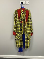 Ex Hire Fancy Dress Costumes- Colourful Clown Outfit With Long Coat & Hat Medium