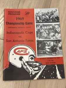 Dec 1969 Continental Football League Program Indianapolis Caps San Antonio Toros