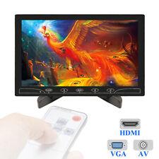 "Mini 10"" inch LCD Monitor Screen HD 1024*600 Display AV/RCA VGA BNC HDMI Input"