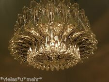 Marvelous GLASHÜTTE LIMBURG pendant lamp, Chandelier, heavy, structured glass