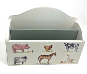 Letter Rack Post Holder Wood Farmyard Animals Country Countryside Traditional