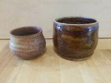 2 Ceramic Bowls  Handcrafter Studio Art Potteryn Signed, flower pot