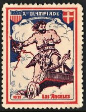 Xth Olympiade Poster Stamp: Denmark (1932) Mh