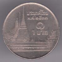 Thailand 1 Baht 1990 Copper-Nickel Coin - Rama IX - Phra Kaew Temple, Bangkok