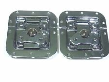 (2) Two Chrome-Plated Medium Butterfly Latches (Split Dish)  For ATA Road Cases