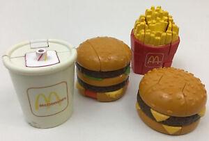 McDonalds Changeables Transformer Fries Drink Quarter Pounder 1990 Lot C