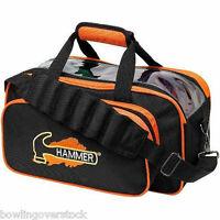 Hammer Black Orange 2 Ball Tote Bowling Bag FAST SHIPPING