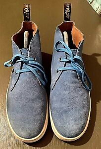 Dr. MARTENS Cabrillo Hi Suede Wp Chukka BLUE Suede Boots SHOES SNEAKERS M8/W9