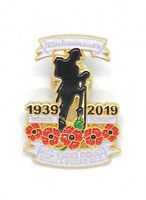 80th Anniversary Remembrance Day Veteran Red Poppy Enamel Pin Badge Brooch