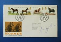 1978 HORSES FIRST DAY COVER SIGNED BY GINGER McCAIN [ RED RUM ]
