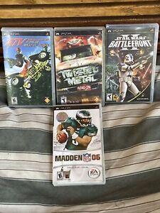 PSP Game lot twisted metal / Star Wars battlefront 2 / madden 06 / atv off-road