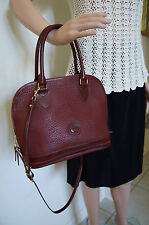 Vintage Dooney & Bourke All Weather Duck Maroon Leather Handbag  MED    80's
