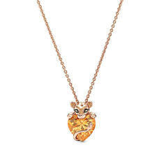 Genuine Pandora ROSE™ Gold Sparkling Lion Princess Necklace 388068CFM RETIRED!