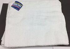 "1 DOZEN PRIME WHITE 16""X28 100% SOFT COTTON TERRY HAND TOWELS SALON/GYM 3# DOZEN"