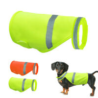 High Visibility Dog Safety Vest Reflective Jacket Hi Vis Viz Clothes Orang Green