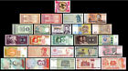 25 Pcs of Different Unique World Foreign Banknotes,Currency, UNC. Lot + List
