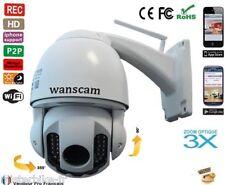 Caméra DOME EXTERIEUR ETANCHE SANS FIL IP PTZ WiFi CMOS IR ZOOM Zoom x3 HW0025