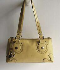 COCCINELLE Italy Stylish Golden Cream Tone Leather Medium Shoulder Bag
