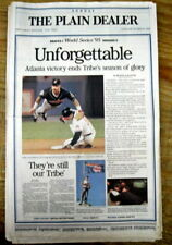 1995 newspaper ATLANTA BRAVES WIN baseball WORLD SERIES over CLEVELAND INDIANS