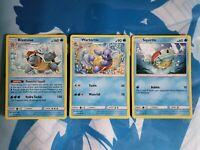 Squirtle, Wartortle and Blastoise Set - NM/Mint, Pokemon
