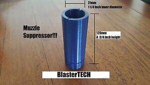 Muzzle Suppressor 3d Printed for Nerf Blaster (Blue)