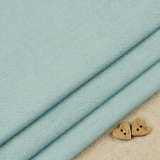 Robert Kaufman Essex Dusty Blue Linen Blend Fabric / quilting dressmaking