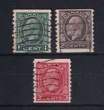CANADA 1933 GV Coil Stamps Set SG 326/328 USED