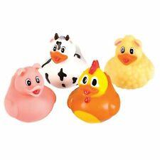 Barnyard Animal Rubber Ducks - 12 count