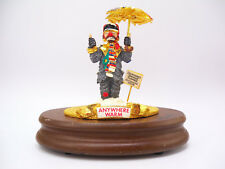 "Ron Lee Hobo Clown Figurine Sculpture ""Anywhere Warm"" Music Box Signed & Dated"