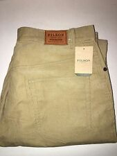 NEW WITH TAGS FILSON 5 POCKET FINE CORDUROY COTTON PANTS 34