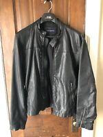 Banana Republic Black Leather Motorcycle Jacket Mens Medium