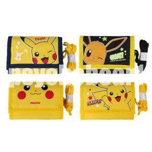 Pokemon  Tri-fold Velcro Wallet Light Weight with Multiple Pocket Random