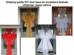 Sophisticated and classy looking organza DIY door BOW decor for all ocassions