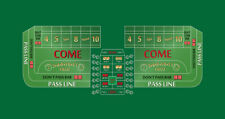 Craps table layout 8 foot green