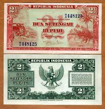 Indonesia, 2 1/2 Rupiah, 1951, P-39, UNC