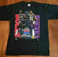 Vintage Michael Jordan Magic Johnson Chicago Bulls T shirt reprint S-234XL DD174