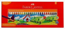 Faber-Castell Erasable Plastic Crayon Set Gift Pack- 110mm,Pack of 25 Assorted
