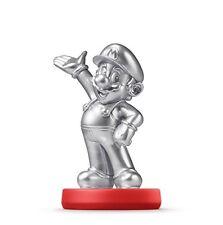 Amiibo silver Mario (Super Smash Bros) Nintendo Wii U 3DS Game Accessory Japan