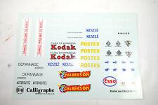 Decals Sticker Calligraphe G18 Kodak Nestle Police Ect. 1:43 New (K37) #40