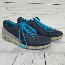 ECCO Street Evo One Golf Shoes Midieval Blue Grey Leather Mens Size 45 11/11.5